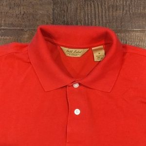 Gold Label Roundtree & Yorke Men's Red Polo Medium